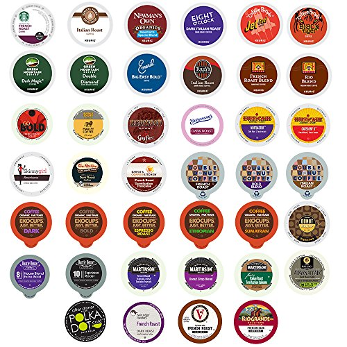 Custom Variety Pack Bold Coffee Single Serve Cups for Keurig K Cup Brewers Sampler, 40 Count (Not Coffee K Cups compare prices)