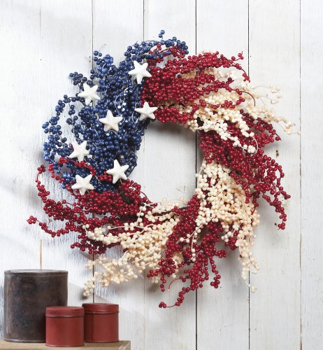 Americana Berry Decorative Wreath