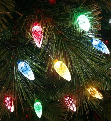 100x multicoloured led faceted cone light set indooroutdoor christmas tree lights 8264gm