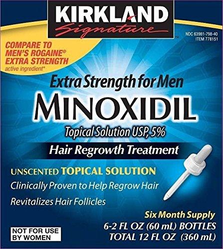 Kirkland  Minoxidil 5% Extra Strength Hair Regrowth for Men, 6 Month Supply