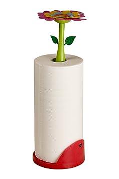 Halter für Küchenrolle FLOWER POWER inkl. Papierrolle - uietghio