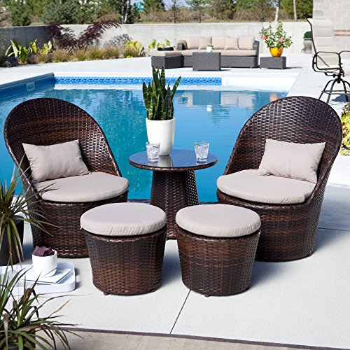 Coral Coast Coral Coast Layton All-Weather Wicker Balcony Chat Set, Resin Wicker picture