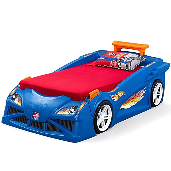 Step2 Hot Wheels Toddler to Twin Bed with Lights Vehicle (Color: Blue, Red, Orange)