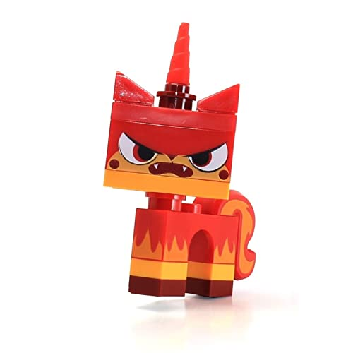 LEGO Movie Angry Kitty Minifigure Red Unikitty Microbuild