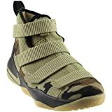 NIKE Kids' Grade School Lebron Soldier Xi Basketball Shoes (7, Camo-M) (Color: Neutral Olive/Neutral Olive, Tamaño: 7 Y US)