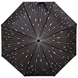Plemo Folding Umbrella With Anti-Slip Rubberized Grip, Windproof, Automatic and Compact for Business and Travel, Raindrop