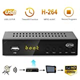 Leelbox Digital Converter Box for Analog TV 1080P ATSC Converters with Recording, Pause Live TV, Multimedia Playback HDTV Set Top Box (Color: S2)