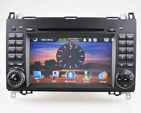 "BOOMYOURS ® Indash HD 7 ""de voiture pour lecteur DVD GPS IPOD pour Mercedes BENZ Viano Vito Sprinter"