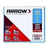Arrow Fastener 504IP Genuine T50 1/4-Inch Staples, 5,000-Pack (Tamaño: 1/4-Inch)