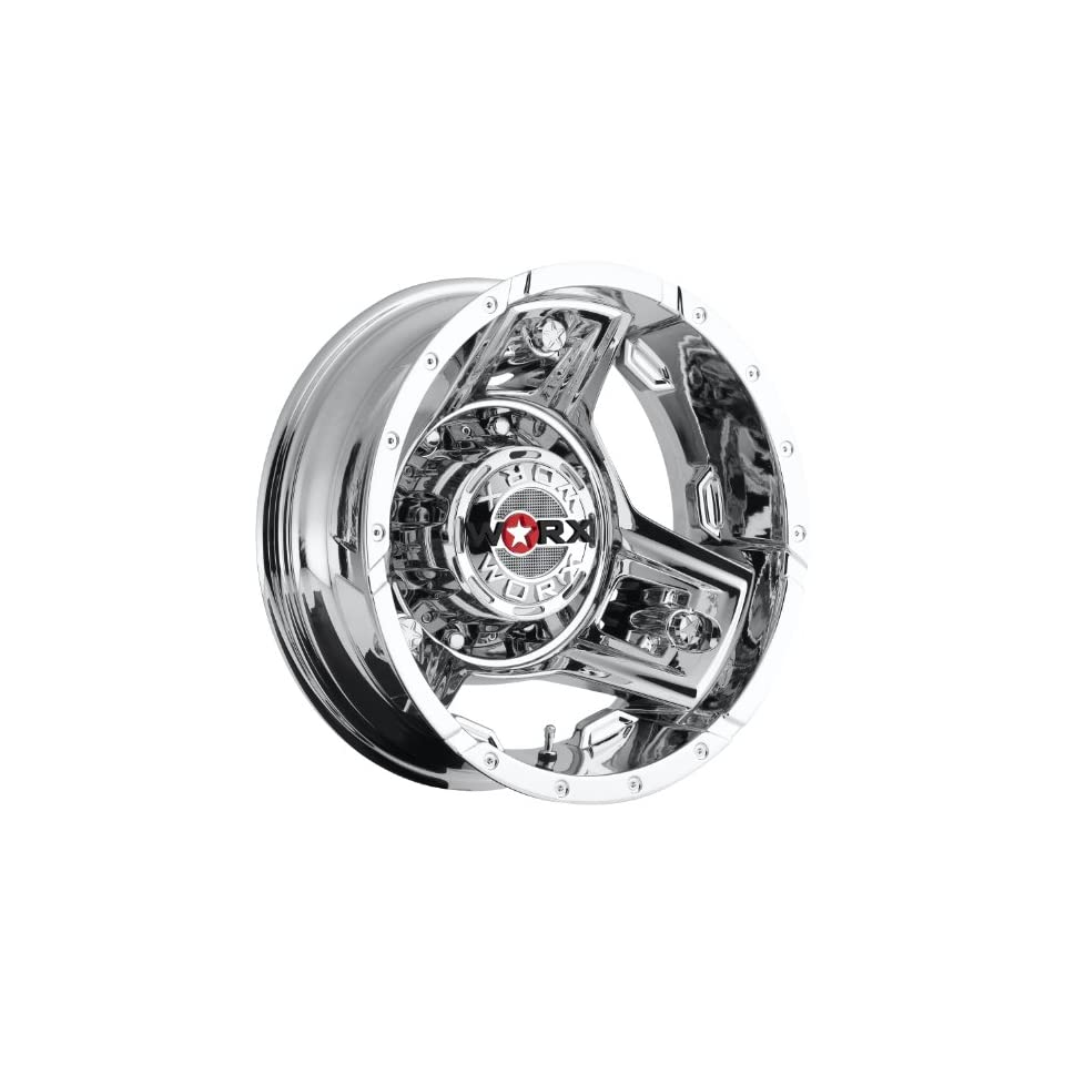 Worx Triad 16 Chrome Wheel / Rim 8x170 with a  140mm Offset and a 125.2 Hub Bore. Partnumber 801 6687RC