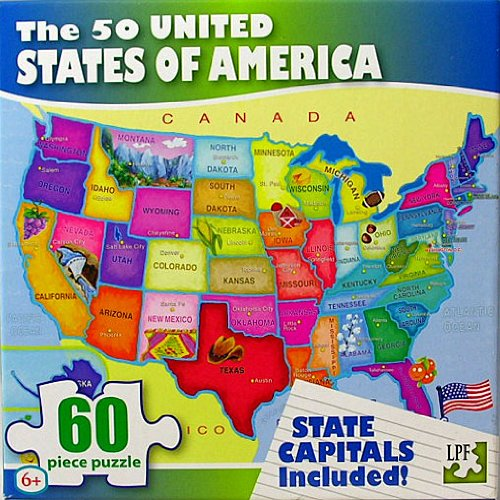 The 50 United States of America 60 Piece Puzzle