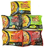 Lucky Me Pancit Canton Variety Bundle- 2 Original Flavor, 2 Chili Mansi, 2 Kalamansi, 2 Sweet and Spicy, and 2 Extra Hot Chili- Total of 10 Packs