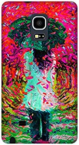 The Racoon Grip love showers hard plastic printed back case / cover for Samsung Galaxy Note Edge