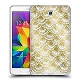 Amazon.co.jpオフィシャル Caitlin Workman オーガニック・バースト ゴールド モダン ソフトジェルケース Samsung Galaxy Tab 4 7.0