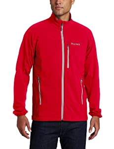 Marmot Men's Tempo Soft Shell Jacket - Team Red, Small
