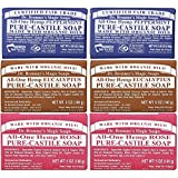 Dr. Bronners Castile Bar Soap 5oz (6 Pack)