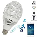 LED Bluetooth Light Bulb Speaker, E27 White and RGB Color Changing Intelligent Night Lights Bulbs with Remote Control for Home, Party-1PK (Color: White, Tamaño: Bluetooth-1PK)