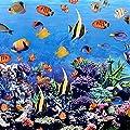 """Wachstuch Tischdecke Wachstischdecke Gartentischdecke, Abwaschbar Meterware, Länge wählbar, """"Südseetraum"""" Exotische bunte Fische im blauen Ozean (296-00) von MODERNO - Gartenmöbel von Du und Dein Garten"""