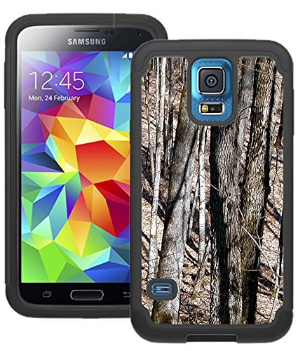CorpCase Samsung Galaxy S5 Case - Dry trees camo tree Hybrid Unique Case With Great Protection