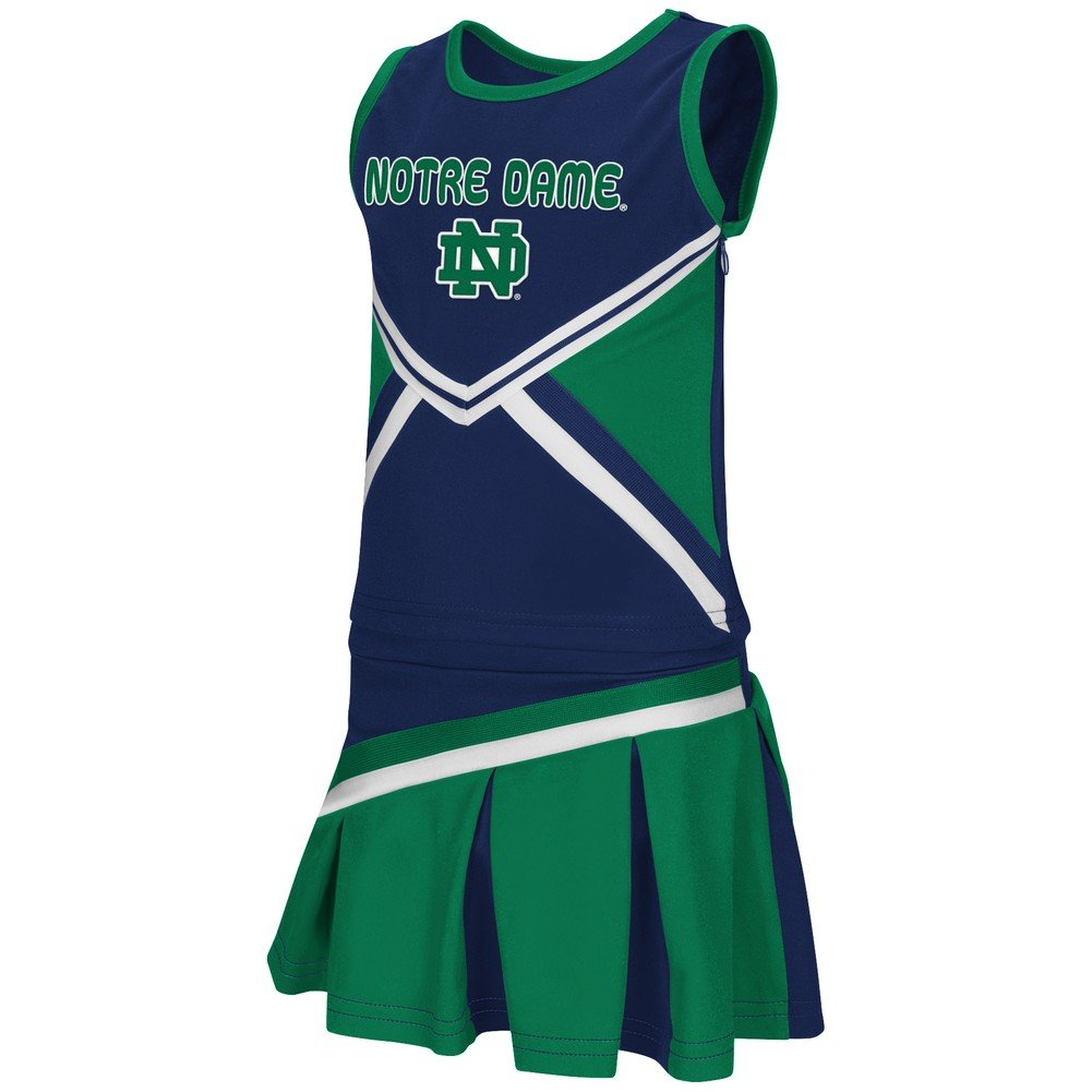 Toddler Notre Dame Fighting Irish Cheerleader Set Shout Outfit the colosseum