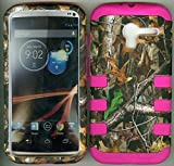 Pink Silicon Camo Adv Realtree Mossy Oak 3 in 1 Hybrid Strong Defender Tuff Base Bumper Cover Strong Defender Case Motorola Moto X Xt1055 Xt1056 Xt1058 Xt1060 Smartphone (At&t, Verizon, Sprint, T-mobile, Us Cellular,alltel) by wirelessoutletusa [並行輸入品]