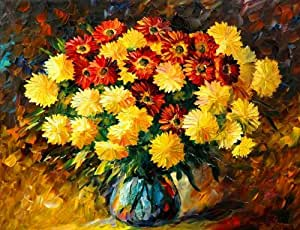 "Dreaming_Deco_Art 100% Hand Painted Oil Painting -Vincent Van Gogh Like Style Flowers 30"" X 36"" Large Extra Size on Canvas Wall Art"