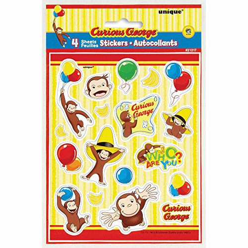 Curious George Sticker Sheets, 4ct - 1