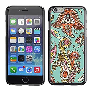 Omega Covers - Snap on Hard Back Case Cover Shell FOR Iphone 6/6S (4.7 INCH) - Floral Weave Pattern Teal Oriental