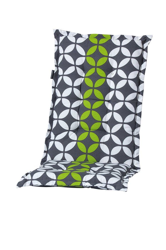 8 cm Luxus Hochlehner Auflage C 325 anthrazit mit grün gemustert online bestellen