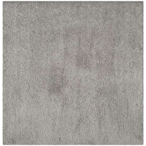 Safavieh Thom Filicia Collection TMF256S Hand-Knotted Silver Wool Square Area Rug, 6 feet Square (6' Square)