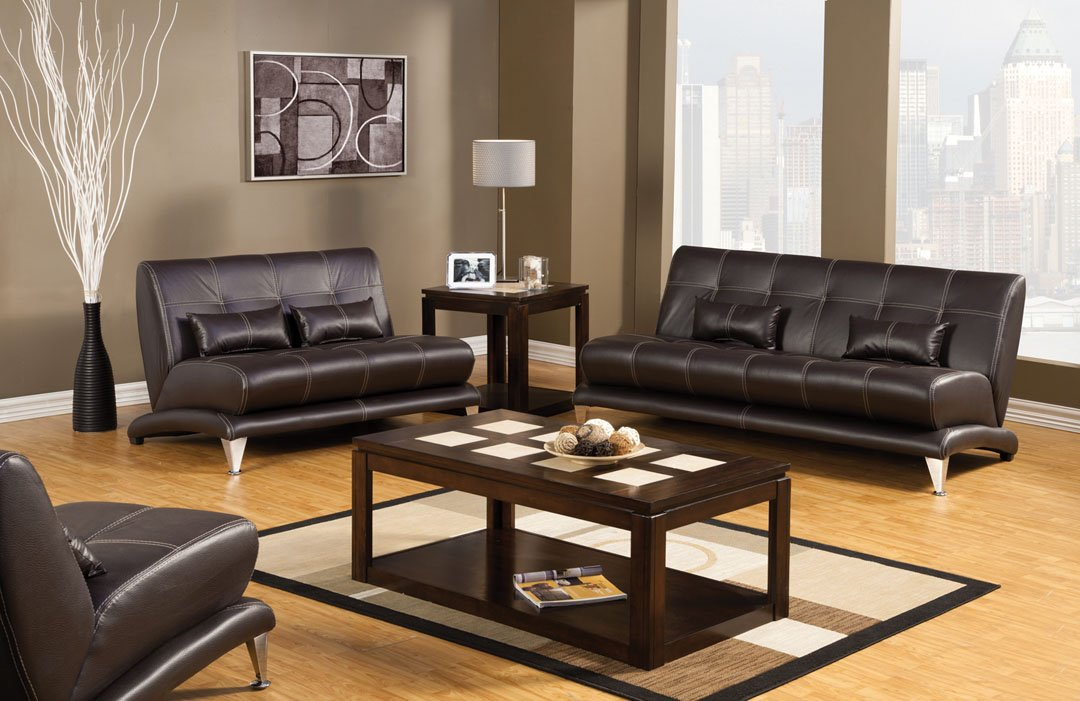Artem Sofa with Pillow in Espresso by Furniture of America
