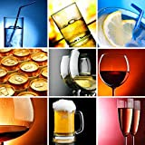 Alcohol Wall Decal - 36 Inches H x 36 Inches W - Peel and Stick Removable Graphic