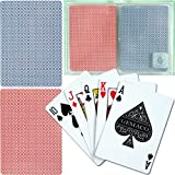 Trademark Poker Gemaco 100% Plastic Weave Standard Poker 2 Deck Setup Playing Cards (Multi)