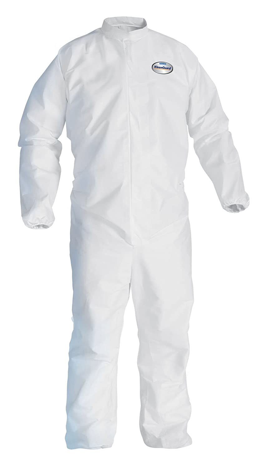 Kimberly-Clark KleenGuard A30 SMS Fabric Breathable Splash and Particle Protection Coverall, Disposable, Elastic Wrist (Case of 25) униформа для медперсонала a promise sms