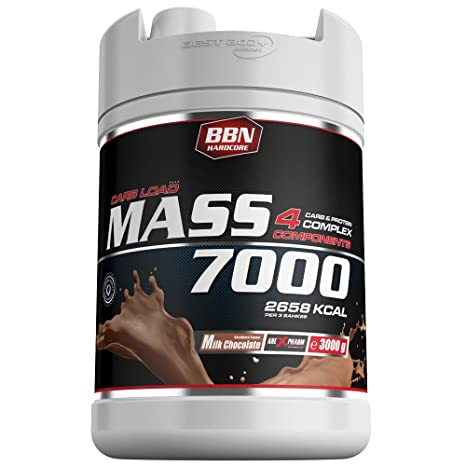 BBN Hardcore Mass 7000 - 4 Carb & Protein Complex Milk Chocolate 3000 g Dose