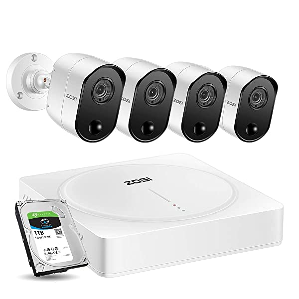 ZOSI 5MP Home Security Camera System, 8 Channel 5 0MP CCTV