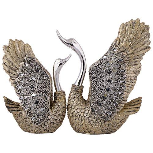 Shivika Enterprises Polyrasin Love Swan pair - (17 cm x 10 cm x 3 cm)