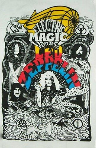 Led Zeppelin 1,52 Meters x 0,91 Meters FC-Bandiera grande, 100% in poliestere, con occhielli in metallo, con doppia cucitura