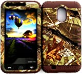 Hybrid Impact Rugged Mossy Camo Branch with Leaves Hunter Series Case for Samsung S2 Galaxy Epic 4G Touch D710 R760 for Sprint/Boost Mobile/Virgin MOBILE/US Cellular on Brown Skin