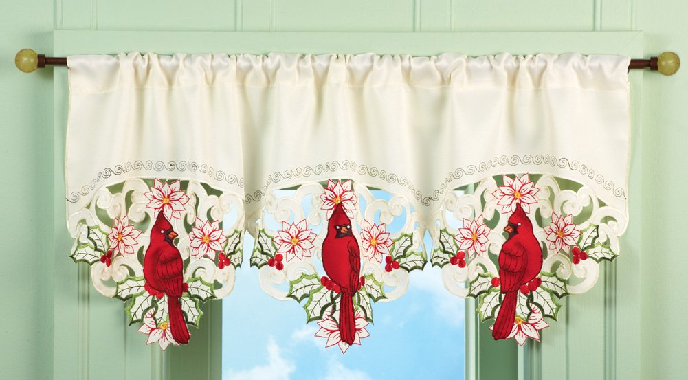 Vintage Red And White Kitchen Curtains