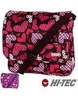 New Girls Womens Love Hearts Hi-Tec School Uni Messenger Satchel Shoulder Bag
