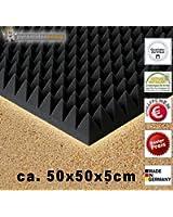 pannello piramidale fonoassorbente insonorizzante correzzione acustica 1 x 50x50x5cm , nero antracite , pannelo piramidale casse acustiche