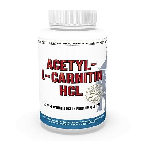 Vita World Acetyl-L-Carnitin HCL 1000mg pro Kapsel 120 Kapseln hohe Bioverfugbarkeit Apotheken Herstellung
