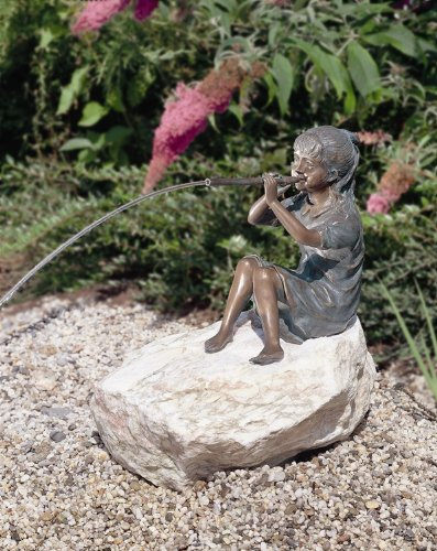 Aquascape Girl Sitting With Flute Spitter # 98537