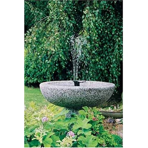 Instapark 5 head solar pump garden fountain pond water for Solar water pump pond