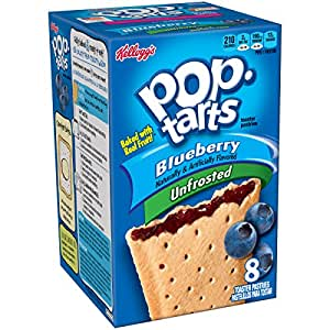Pop-Tarts, (Not Frosted) Blueberry, 8-Count Tarts (Pack of 12), 14.7-ounce