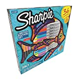 Sharpie Markers Limited Edition Set, color Assortment 36 markers,5 pens plus 3 bonus coloring pages
