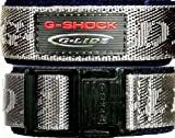 Casio G Shock Cloth &amp; Velcro watch band - Grey Outer/Navy Inner