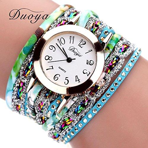 ihee duoya donne lusso fiore popolare orologio al quarzo, moda fiore braccialetto orologio da polso