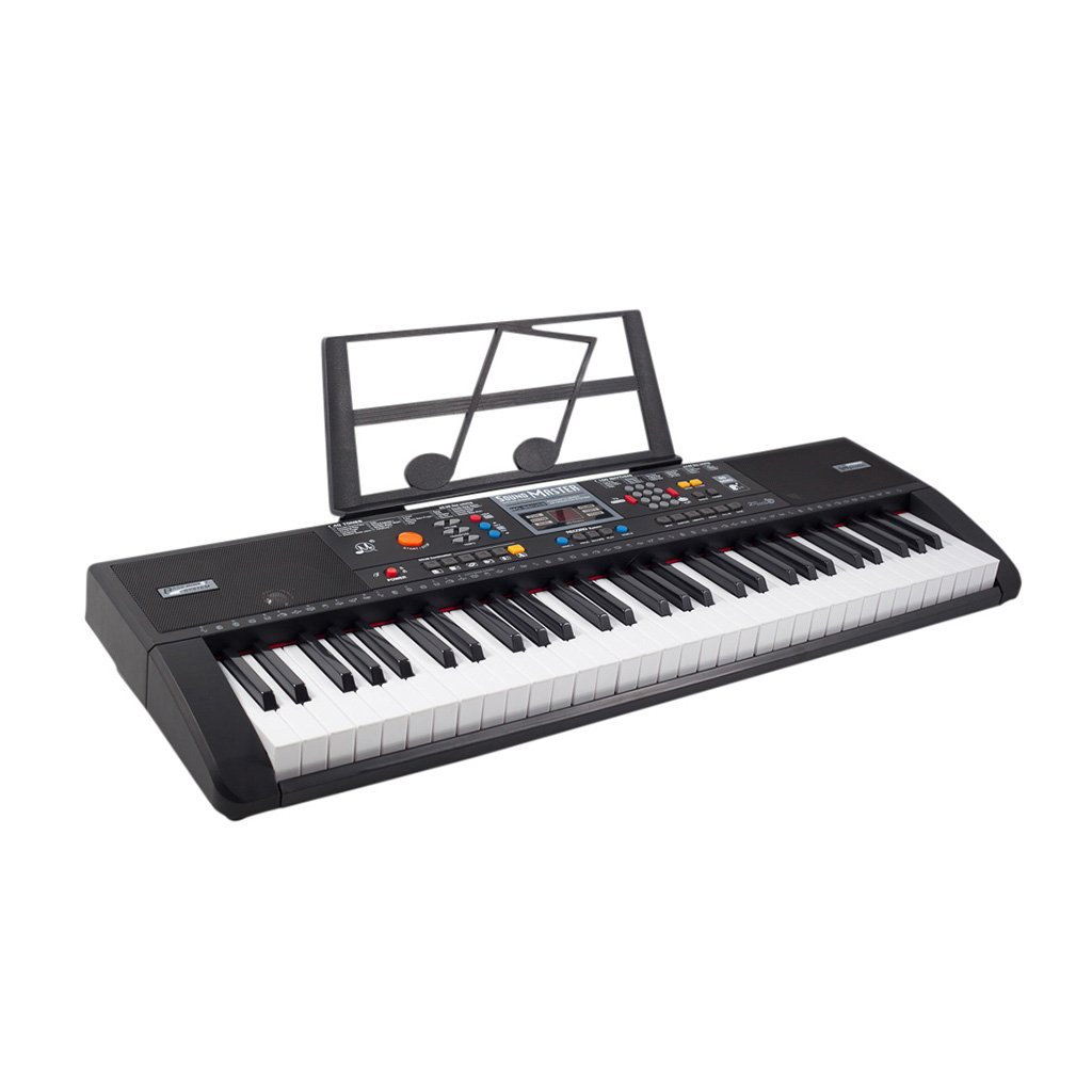 Plixio 61 Key Full Size Electronic Music Keyboard Electric Piano with USB MP3 Input